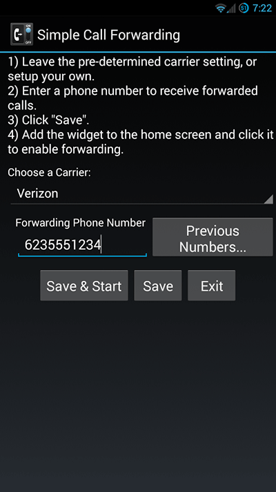 simple call forwarding for android