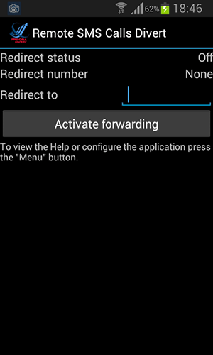 sms call forward divert for android
