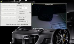 Droid CAMx wireless webcam