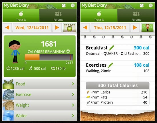 my diet diary tektrunk