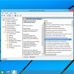Enable Balloon Toasts in Windows 10