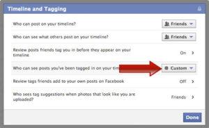 timeline tagging facebook